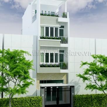 Mẫu thiết kế nhà phố đẹp 4m x 16m