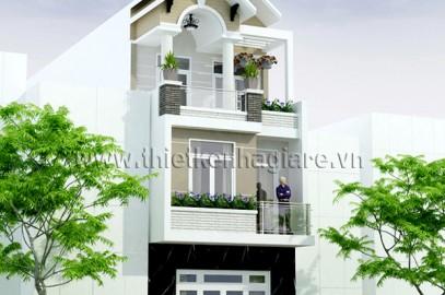 Mẫu nhà phố đẹp 3 tầng, mặt tiền 5m