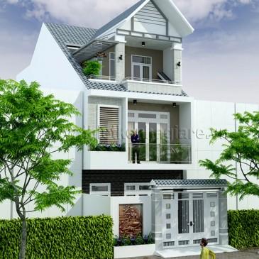 Mẫu nhà phố đẹp mặt tiền 6m