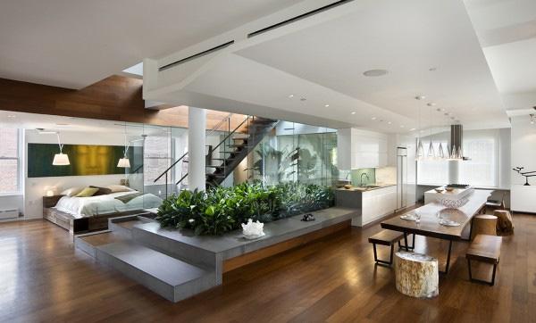 Thiết kế nội thất không gian mở