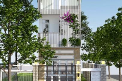 Mẫu thiết kế nhà phố 1 trệt 1 lầu 1 sân thượng đơn giản